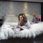 kunstnahast valge voodipeats